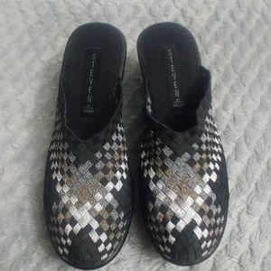 Steve Madden slide on shoes.